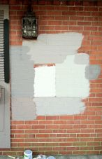 Exterior paint color ideas with red brick 13