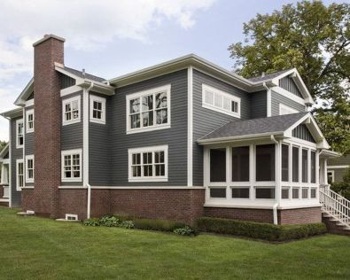 Exterior paint color ideas with red brick 17