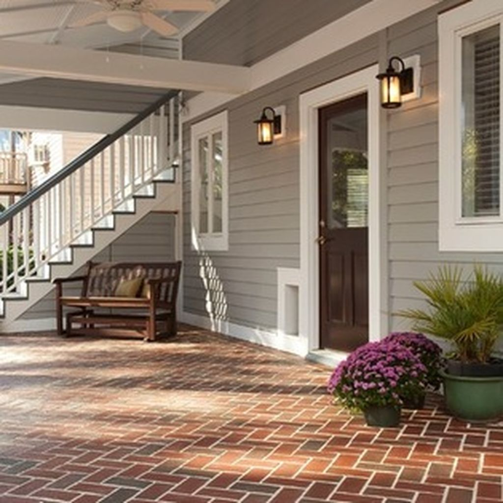Exterior paint color ideas with red brick 25 - ROUNDECOR on Brick House Painting Ideas  id=96201