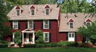 Exterior paint color ideas with red brick 31