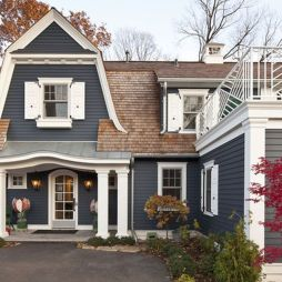Exterior paint color ideas with red brick 43