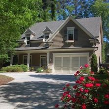 Exterior paint color ideas with red brick 44