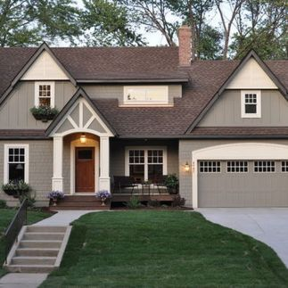 Exterior paint color ideas with red brick 47