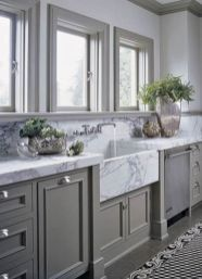 Gray color kitchen cabinets 04