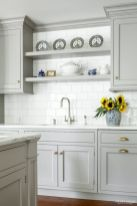Gray color kitchen cabinets 10