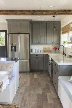 Gray color kitchen cabinets 19