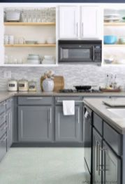 Gray color kitchen cabinets 23