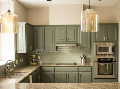 Gray color kitchen cabinets 27