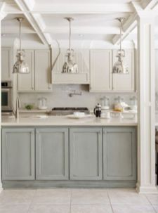 Gray color kitchen cabinets 28