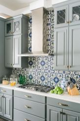 Gray color kitchen cabinets 30