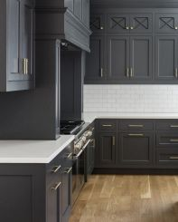 Gray color kitchen cabinets 32