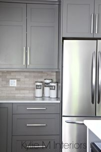 Gray color kitchen cabinets 33