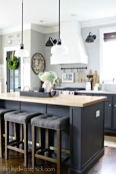 Gray color kitchen cabinets 37
