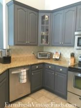 Gray color kitchen cabinets 39