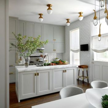 Gray color kitchen cabinets 40