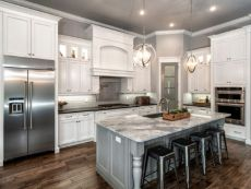 Gray color kitchen cabinets 47