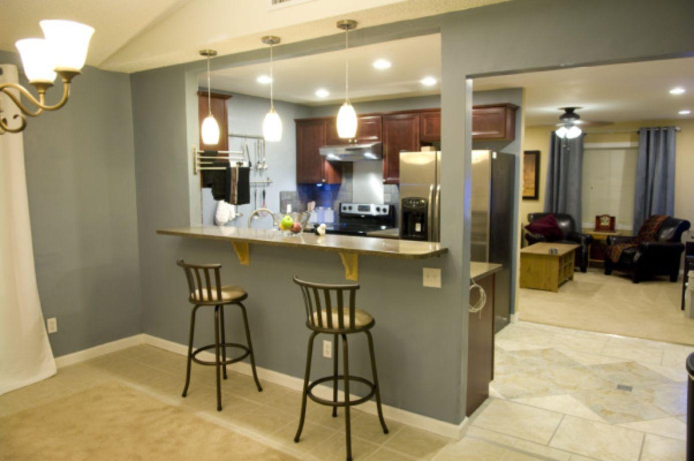 Half wall kitchen designs 13