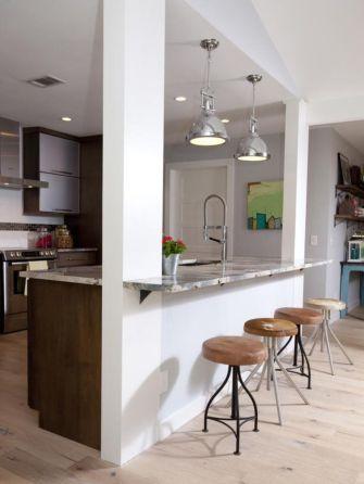 Half wall kitchen designs 15