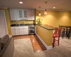 Half wall kitchen designs 17