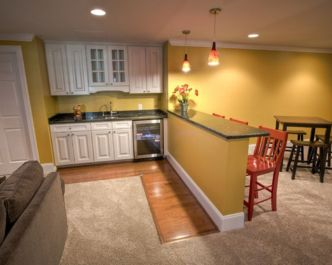 Half wall kitchen designs 17
