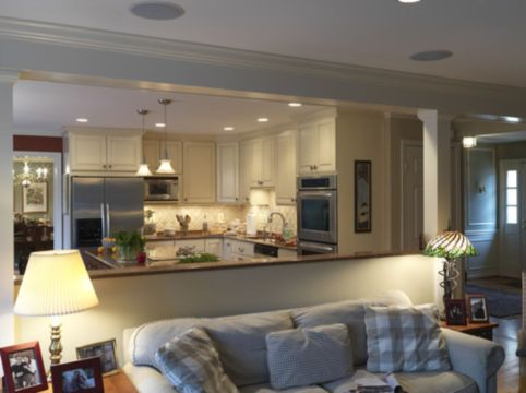 Half wall kitchen designs 23