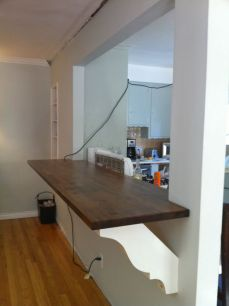 Half wall kitchen designs 34