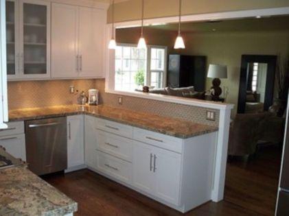 Half wall kitchen designs 41