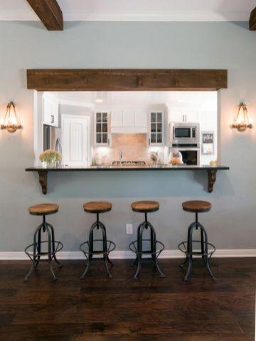 Half wall kitchen designs 43