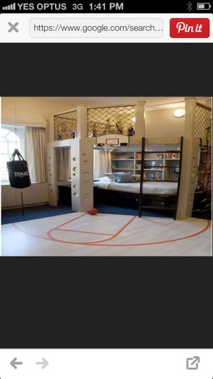 Inspiring bedroom design ideas for boy who loves basketball 14