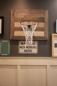 Inspiring bedroom design ideas for boy who loves basketball 44