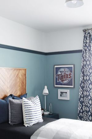 Inspiring bedroom design ideas for boy who loves basketball 60
