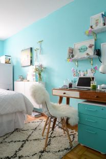 Inspiring bedroom design ideas for teenage girl 21