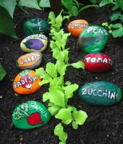 Inspiring painted rocks for garden ideas (17)