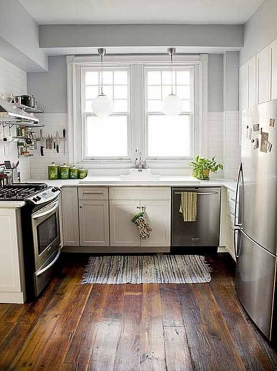 Kitchens design ideas with green walls 06