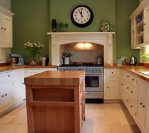 Kitchens design ideas with green walls 09