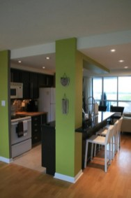 Kitchens design ideas with green walls 24