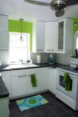 Kitchens design ideas with green walls 37