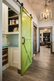 Kitchens design ideas with green walls 39