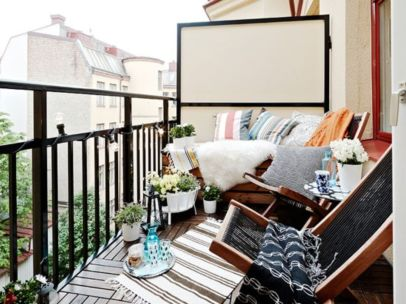 Modern apartment balcony decorating ideas 18