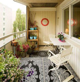 Modern apartment balcony decorating ideas 49