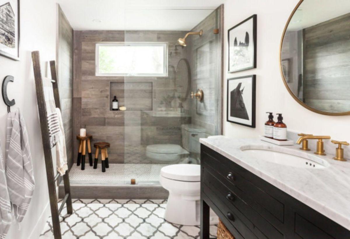 46 Awesome Farmhouse Shower Tiles Ideas Round Decor