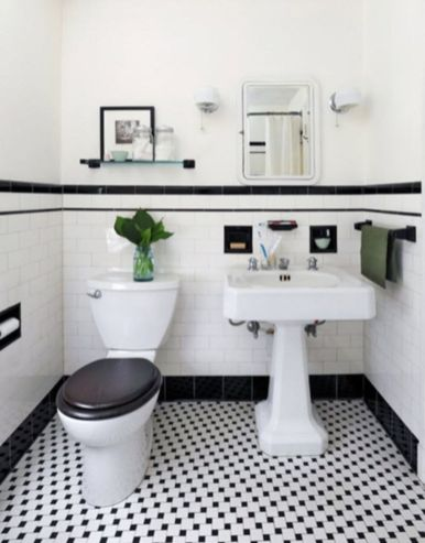 Modern small bathroom tile ideas 106