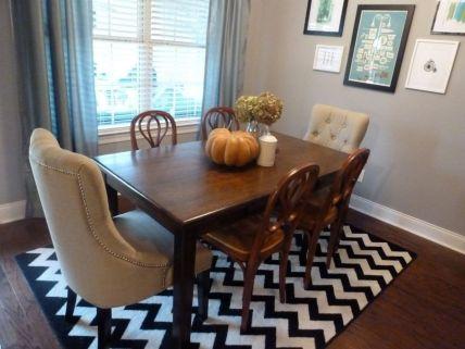 Stunning dining room area rug ideas 22