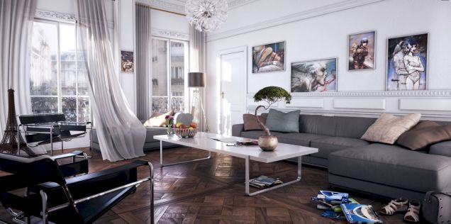 Stunning gray and white living room decor ideas 01