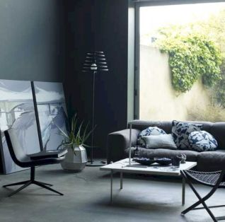 Stunning gray and white living room decor ideas 10