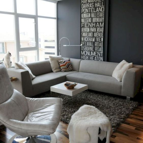 Stunning gray and white living room decor ideas 11