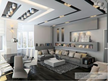 Stunning gray and white living room decor ideas 34