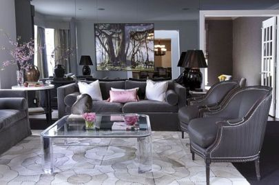 Stunning gray and white living room decor ideas 36