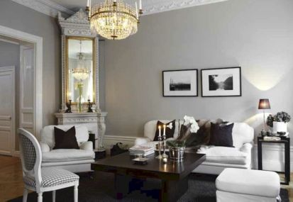 Stunning gray and white living room decor ideas 62
