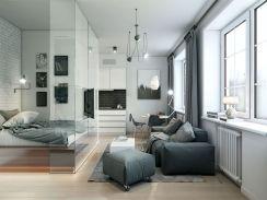 Stunning small apartment bedroom ideas 26